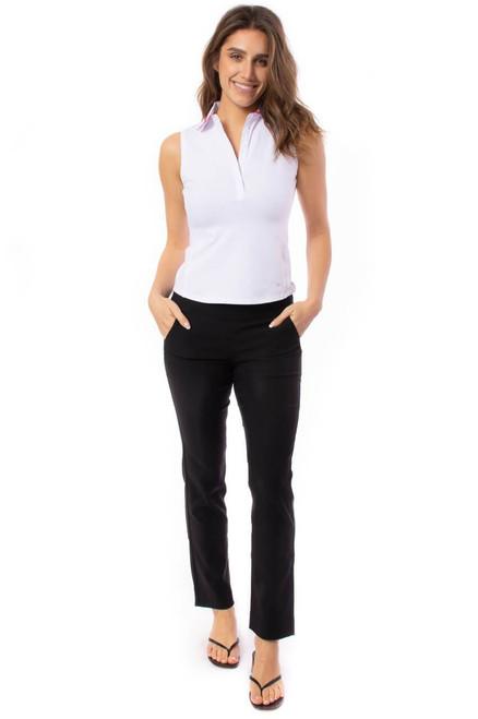 Golftini Trophy Pull-On Stretch Twill Black Golf Pants