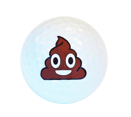 White Poop Emoji Golf Balls