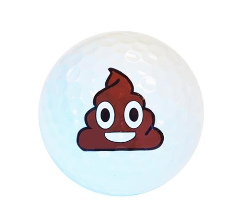 White Poop Emoji Golf Balls