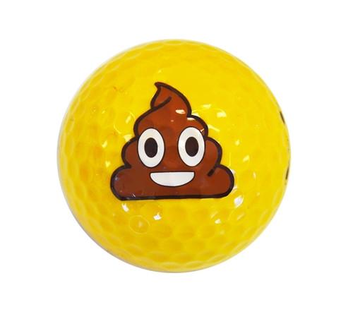 Poop Emoji Golf Balls