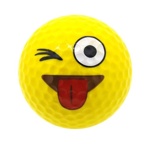 Just Kidding Emoji Golf Balls