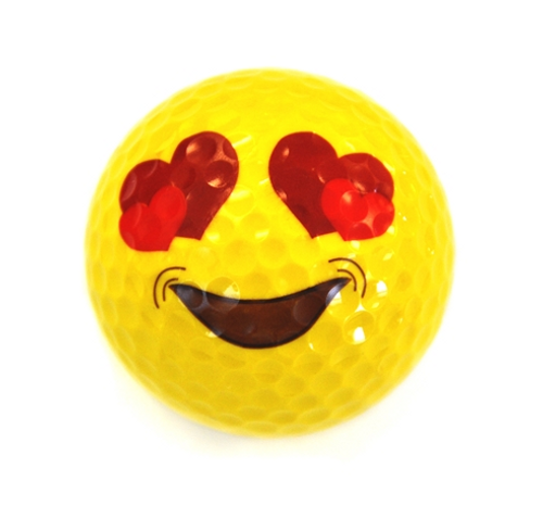Love Emoji Golf Balls