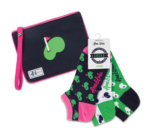 A&L Putting Green Wristlet + Socks