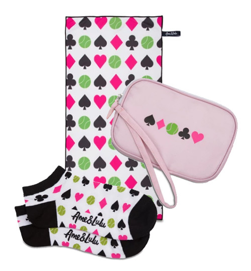 Ame & Lulu Queen of the Court Tennis Towel + Wristlet + Socks