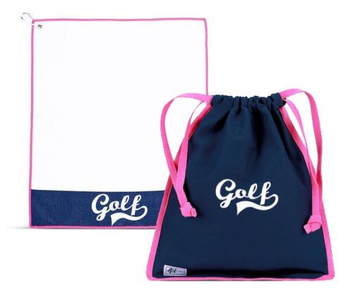 A&L Icon Golf Accessories - Drawstring Shoe Bag + Towel