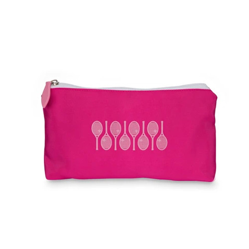 Ame & Lulu Pink Racquets Everyday Tennis Pouch