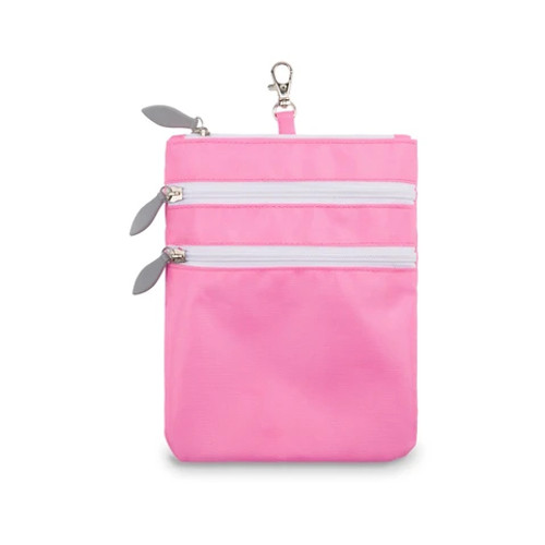 Ame & Lulu Pink 3 Zip Carry All Bag