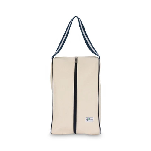 Ame and Lulu canvass shoe bag in blueberry