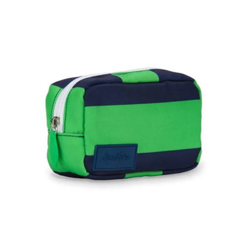 Ame & Lulu Green & Navy Mini Pouch