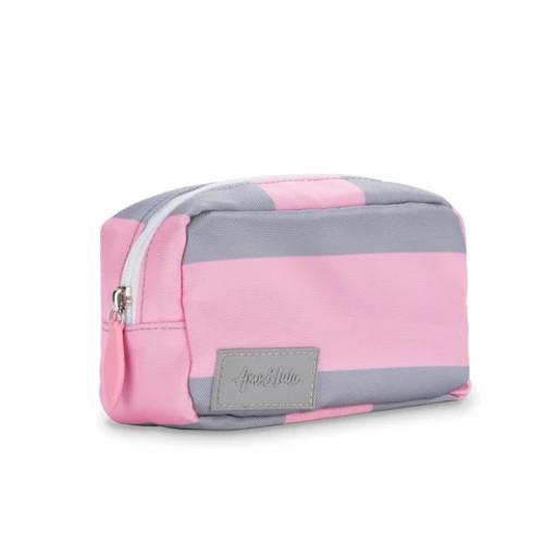 Ame & Lulu Grey & Pink Mini Pouch