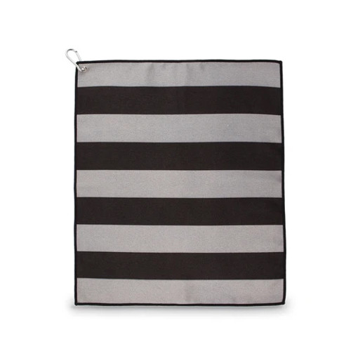 Ame & Lulu Tinsley Black & Grey Stripe Sport Towel