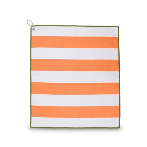 Ame & Lulu Tinsley Orange & White Stripe Sport Towel