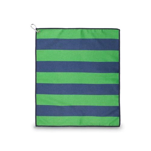 Ame & Lulu Tinsley Green & Navy Stripe Sport Towel