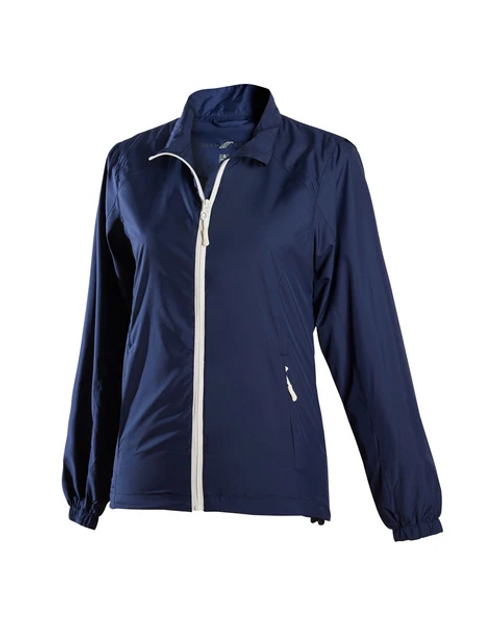 Glen Echo Ladies Ultra Light Navy Water Repellent Jacket
