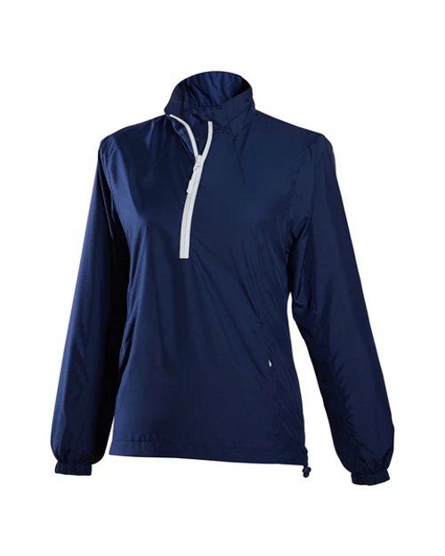 Glen Echo Ladies Ultra Light Navy Water Repellent Pullover