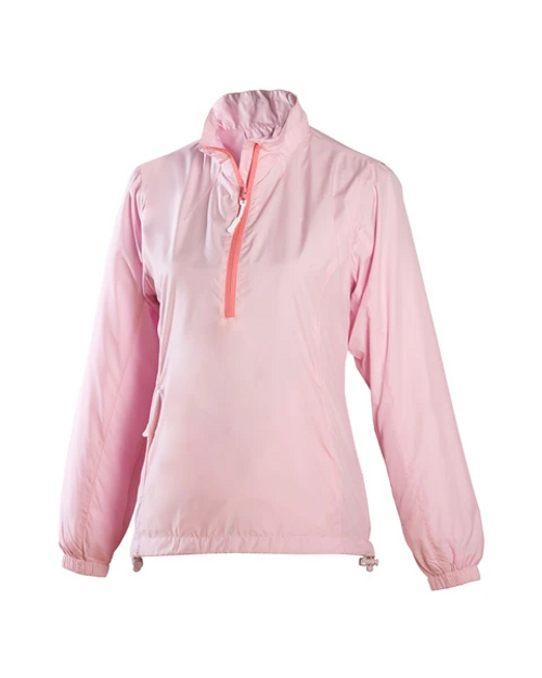 Glen Echo Ladies Ultra Light Pink Water Repellent Pullover