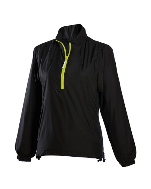 Glen Echo Ladies Ultra Light Black Water Repellent Pullover