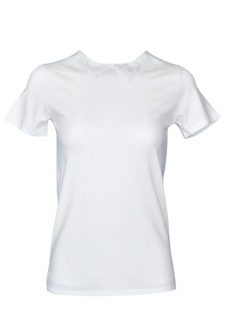 Bump & Run Darling Collared Top - White