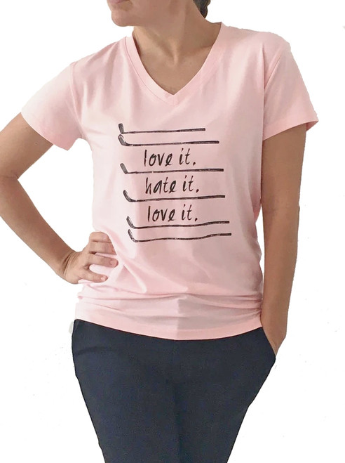 Bump & Run Love It, Hate It Blush Pink Tee