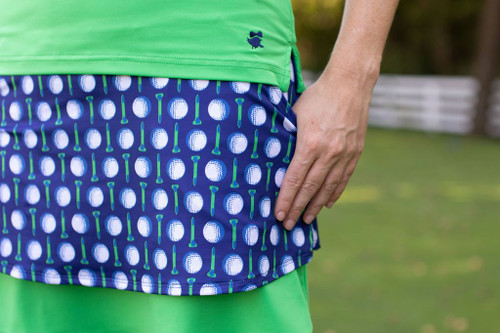 Birdies & Bows Lay It Up Layer Golf Skort - Lots of Balls