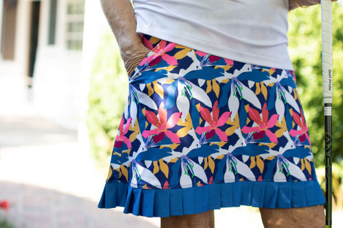 Birdies & Bows On The Fringe Golf Skort - Wedged Wildflowers