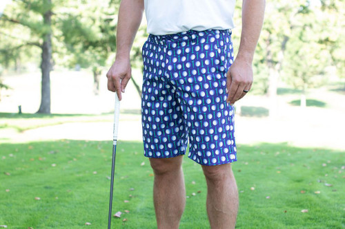 Birdies & Bows Men's Short Game Shorts- Lots of Balls