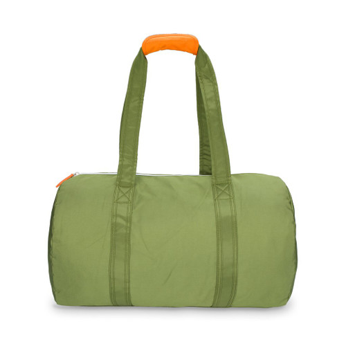 Ame & Lulu Army and Orange Duffel Bag