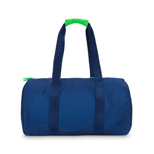 Ame & Lulu Navy and Green Duffel Bag