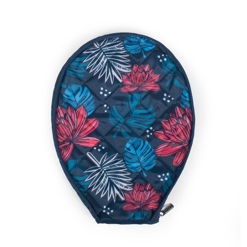 cinda b Tropicalia Black Tennis Racquet Cover