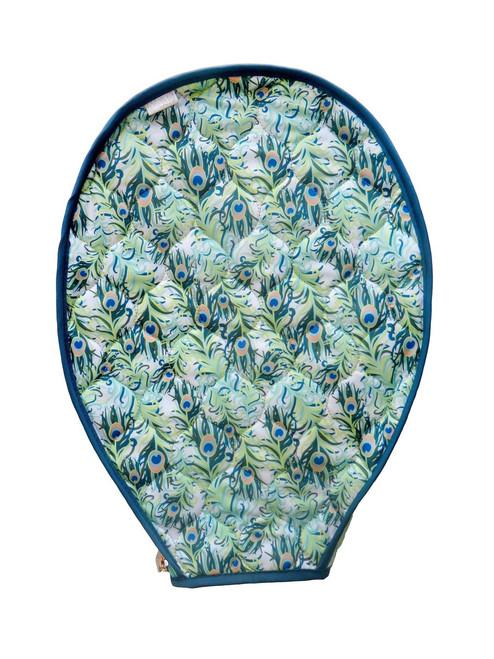 cinda b Purely Peacock Tennis Racquet Cover