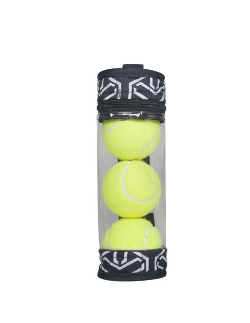 cinda b Jet Set Black Tennis Ball Case