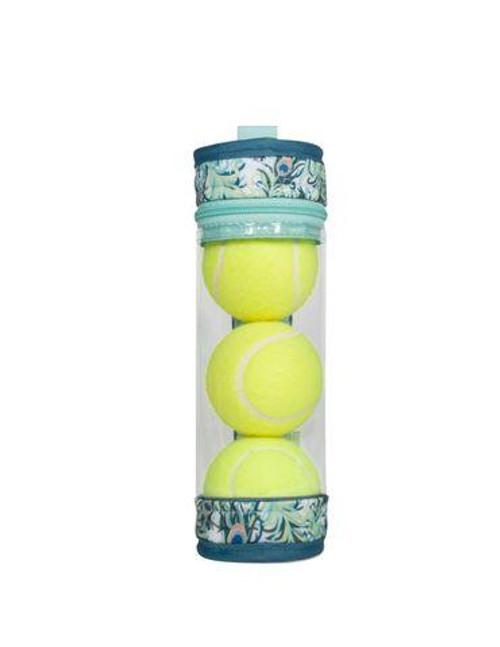 cinda b Peacock Tennis Ball Case