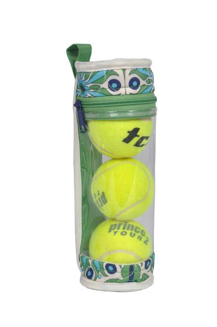 cinda b Verde Bonita Tennis Ball Case