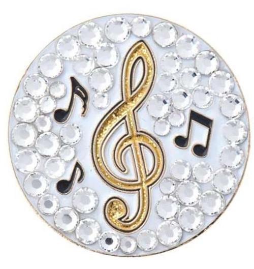 Bonjoc Music Note Swarovski Crystal Ball Marker