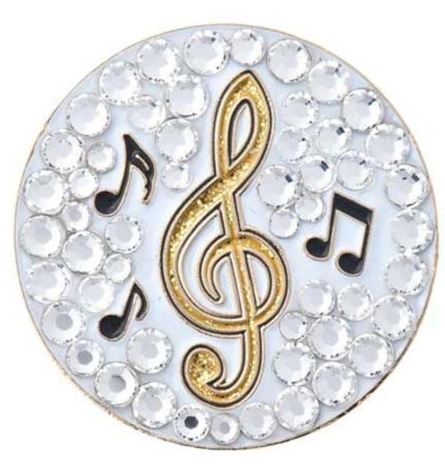 Bonjoc Music Note Swarovski Crystal Ball Marker