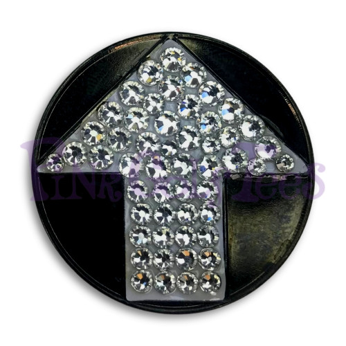 Arrow - Bonjoc Swarovski Crystal Golf Ball Marker Accessory with magnetic hat clip.  Handcrafted with 100% genuine Swarovski crystal.  Perfect for corporate gifts or tee prizes. Comes with carrying pouch.