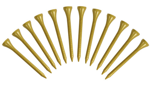 Wooden Golf Tees - Gold (Pack of 12)