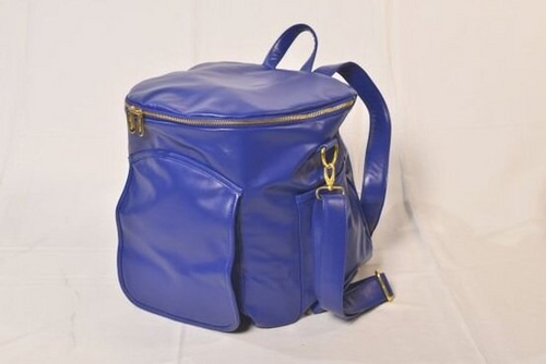 Sassy Caddy Cobalt Blue Leather Back Pack