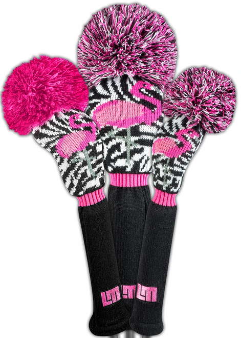 Loudmouth Savage Flamingos Headcover Set