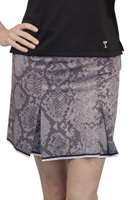 Golftini Grey Snakeskin Stretch Performance Skort | 5 Star