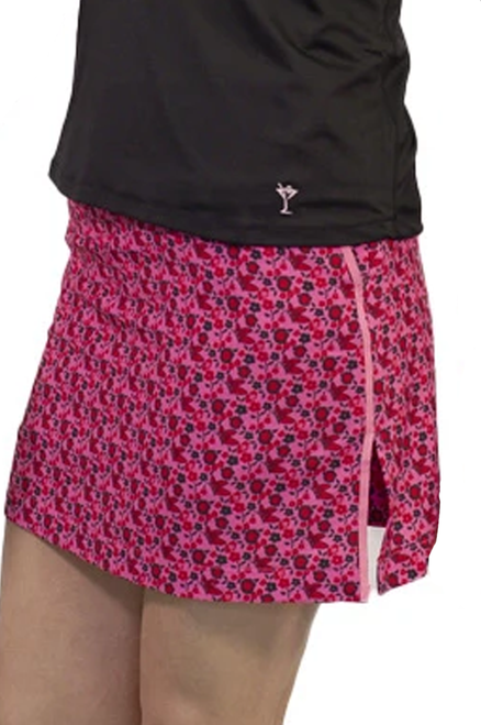 Golftini Hot Pink Floral Performance Stretch Skort | Take Flight | Available in 2 Lengths