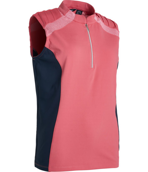 Abacus Sportswear Exotic Coral Lisa Sleeveless Polo