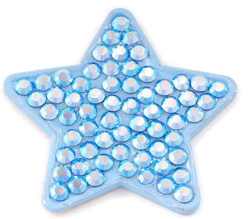 Bonjoc Moonbeam Star Blue Swarovski Crystal Ball Marker