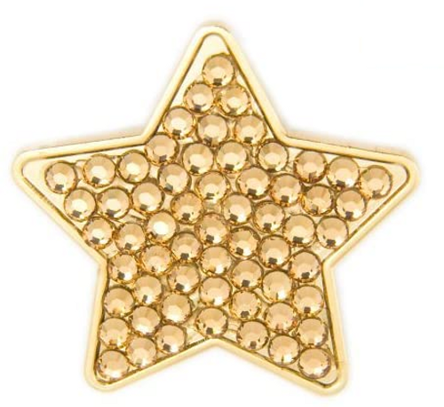 Bonjoc Gold Star Swarovski Crystal Ball Marker
