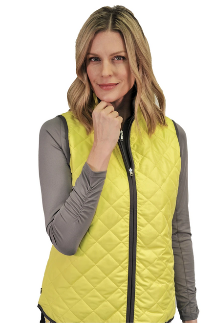 Golftini Designer Yellow / Grey Reversible Wind Vest