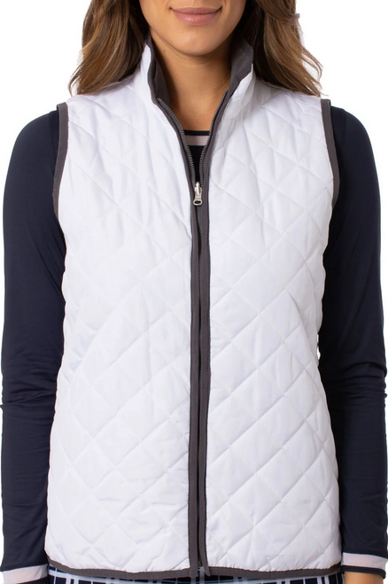 Golftini White / Grey Reversible Wind Vest