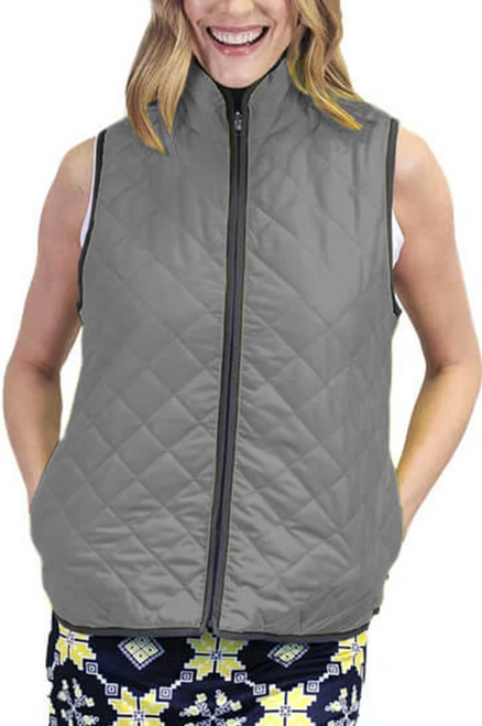 Golftini Grey Reversible Wind Vest
