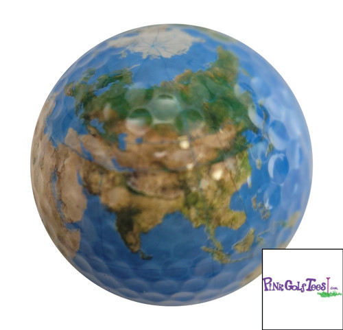 Geographical Earth Golf Ball