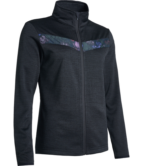 Abacus Sportswear Black Floral Fortrose Full-Zip Fleece