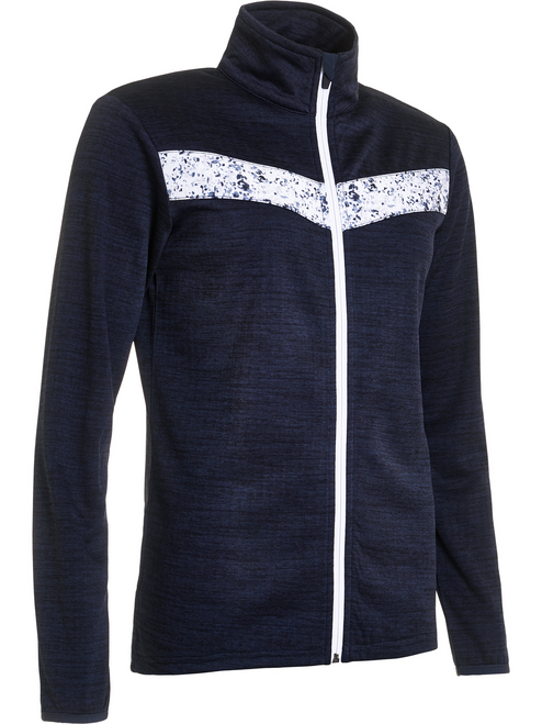 Abacus Sportswear Mixed Navy Fortrose Full-Zip Fleece